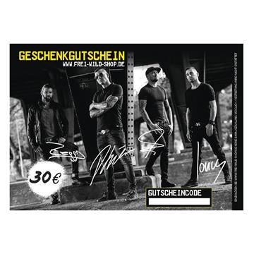 Frei.Wild - Shopgutschein über 30,00 EUR