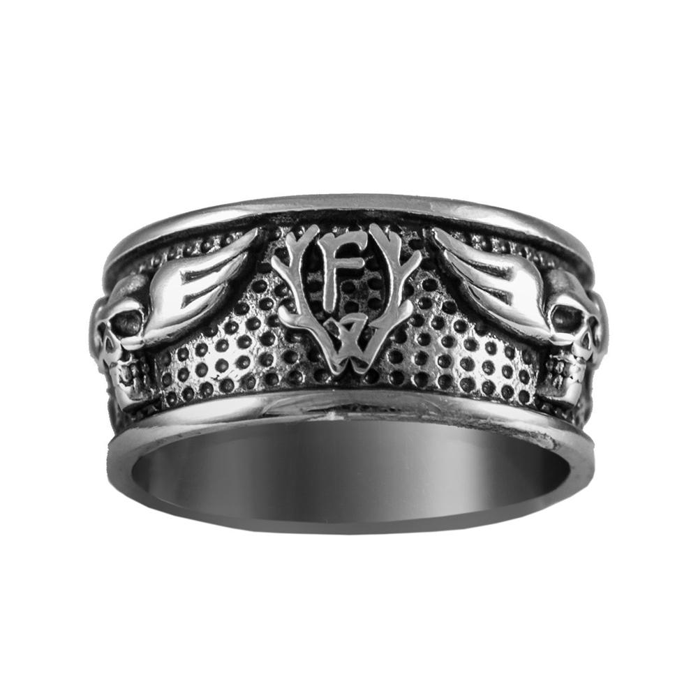 Frei.Wild - FdF Skull Edelstahl/Silber Ring
