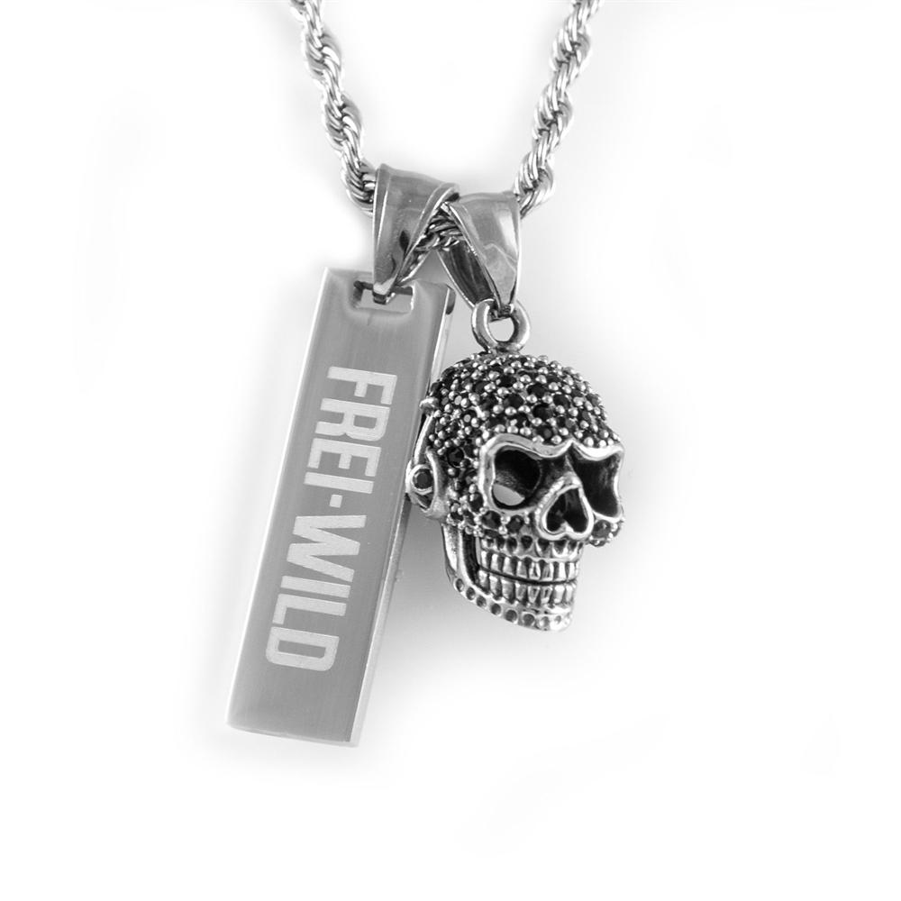 Frei.Wild - PlattenSkull Halskette