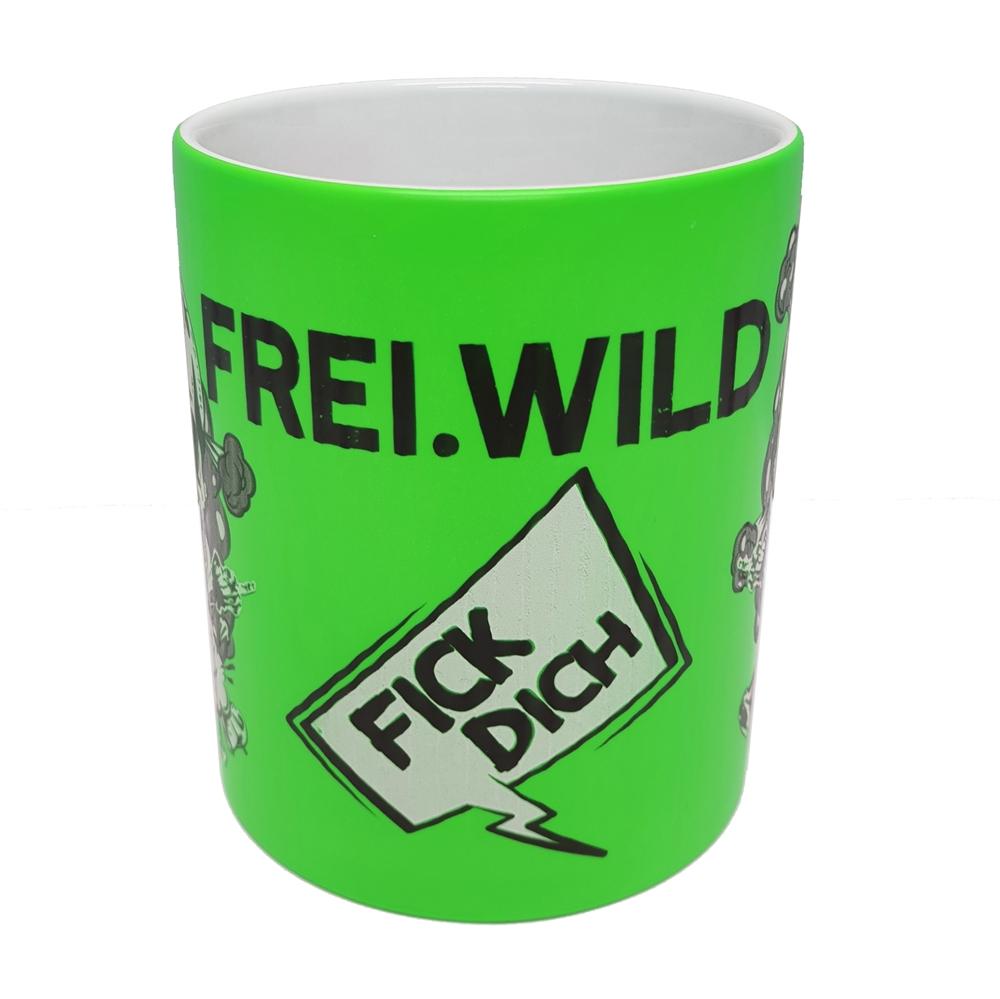 Frei.Wild - FDUVD, Tasse (neongrün)