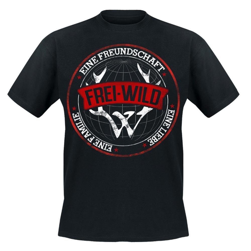 Frei.Wild - Young Fashion - Friend Love Family, T-Shirt (schwarz)