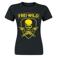 Frei.Wild - R&R / Skull, Girl-Shirt