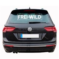 Frei.Wild - R&R, Heckscheibenaufkleber (weiß)
