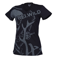 Frei.Wild - R&R Allover Skull, Girl V-Neck