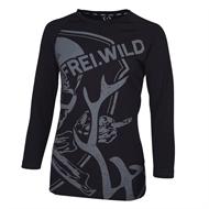 Frei.Wild - R&R Allover Skull, Girl Longsleeve